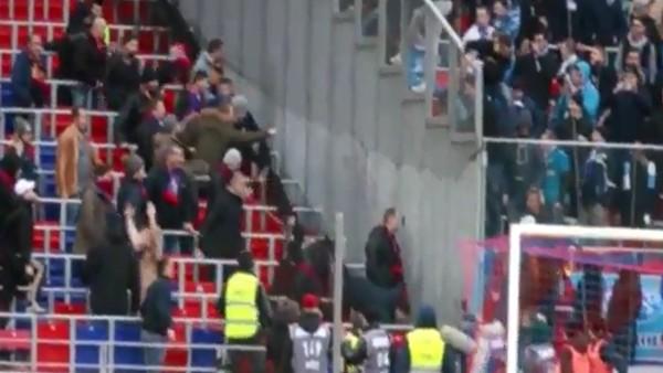 CSKA - Zenit derbisinde olay