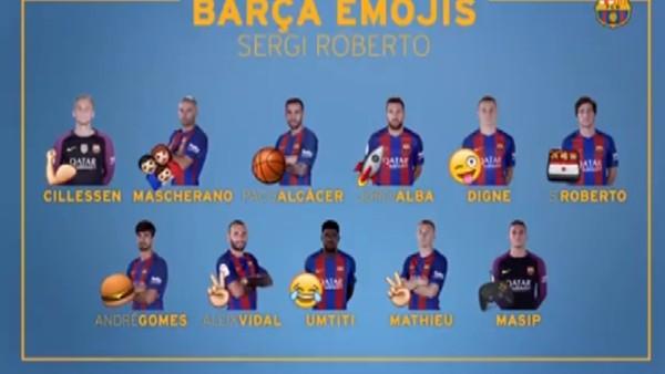 Sergi Roberto'nun Arda Turan'ı tanımladığı emoji