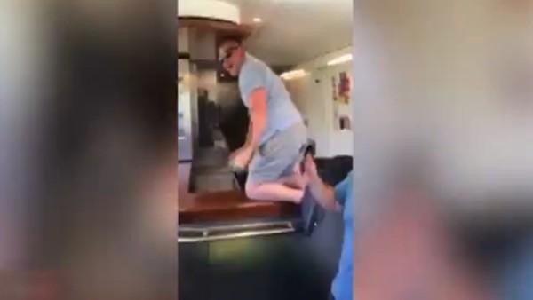 Leicester City'nin holiganları treni yağmaladı