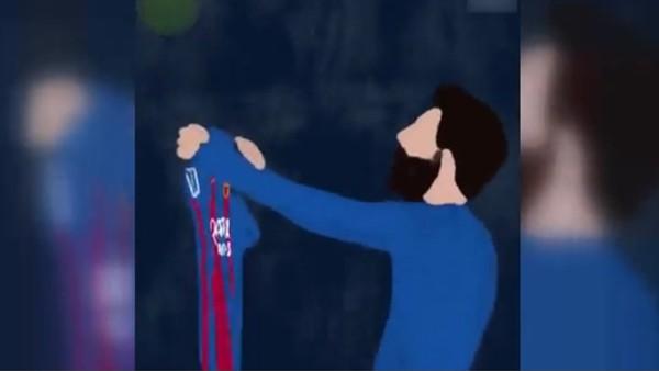 Messi'nin tarihi 500. golü çIzgi film oldu