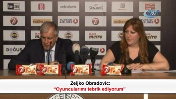 Zeljko Obradovic: 'Oyuncularımı tebrik ediyorum'