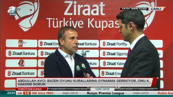 Abdullah Avcı: 'Bazen oyunu kurallarına göre oynamak gerekiyor'