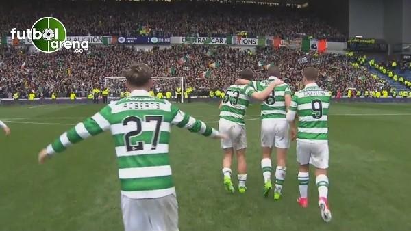 Celtic derbi galibiyetini böyle kutladı