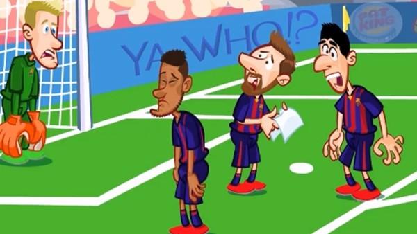Malaga - Barcelona maçı animasyon film oldu