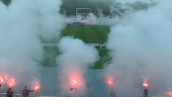 Dinamo Kiev taraftarı kulüplerinin 90.kuruluş dıldönümünü kutladılar