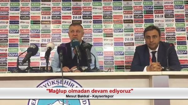 """Mesut Bakkal: """"Mağlup olmadan devam ediyoruz"""""""