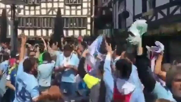 Celta Vigo taraftarı Manchester'ı salladı
