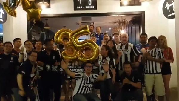 Juventuslu taraftarların şampiyonluk coşkusu