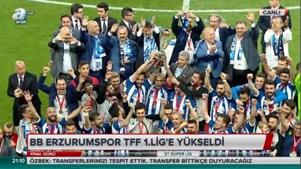 Erzurumspor kupasını kaldırdı!