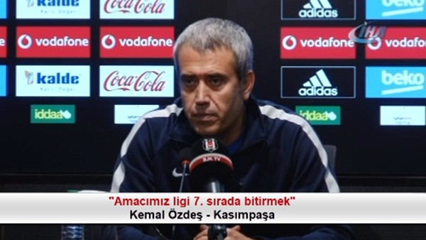 """Kemal Özdeş: """"Amacımız ligi 7. sırada bitirmek"""""""