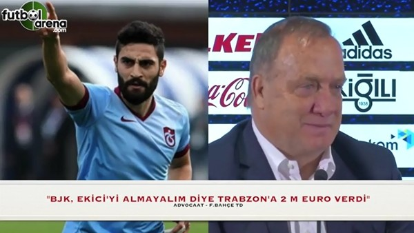 """Advocaat: """"Beşiktaş, Ekici'yi almayalım diye Trabzon'a 2 milyon Euro verdi"""""""
