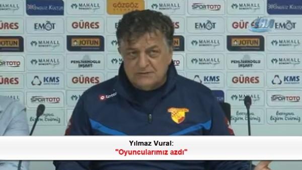 Yılmaz Vural: 'Oyuncularımız azdı'