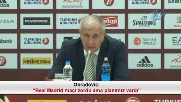 """Obradovic: """"Real Madrid maçı zordu ama planımız vardı"""""""