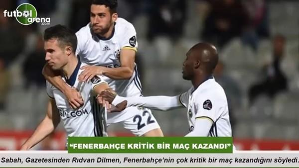 """Rıdvan Dilmen: """"Fenerbahçe kritik bir maç kazandı"""""""