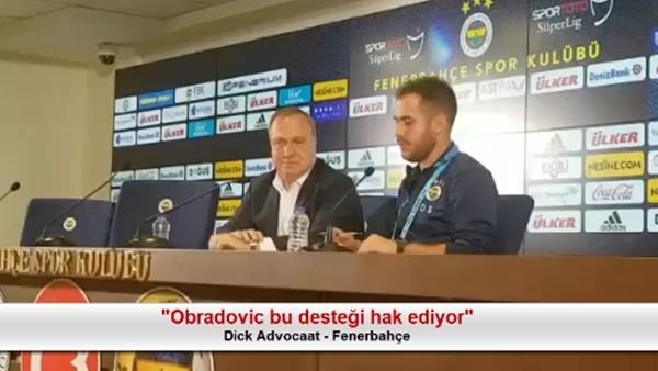 """Advocaat: """"Obradovic bu desteği hak ediyor"""""""