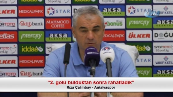 """Rıza Çalımbay: """"2. golü bulduktan sonra rahatladık"""""""