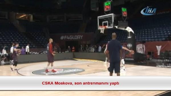 CSKA Moskova, son antrenmanını yaptı