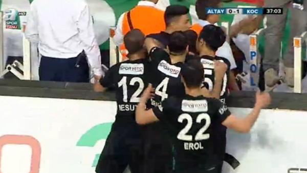 Burak Özbakır'ın Altay'a attığı gol