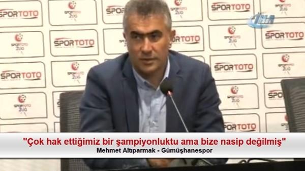"""Mehmet Altıparmak: """"Çok hak ettiğimiz bir şampiyonluktu ama bize nasip değilmiş"""""""