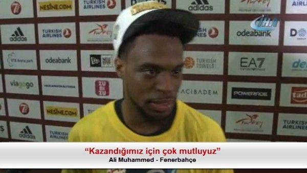 """Ali Muhammed: """"Kazandığımız için çok mutluyuz"""""""