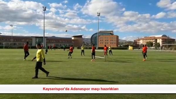 Kayserispor'da Adanaspor maçı hazırlıkları