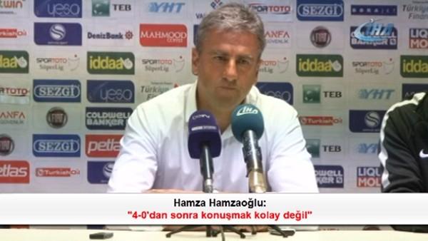 Hamza Hamzaoğlu: '4-0'dan sonra konuşmak kolay değil'