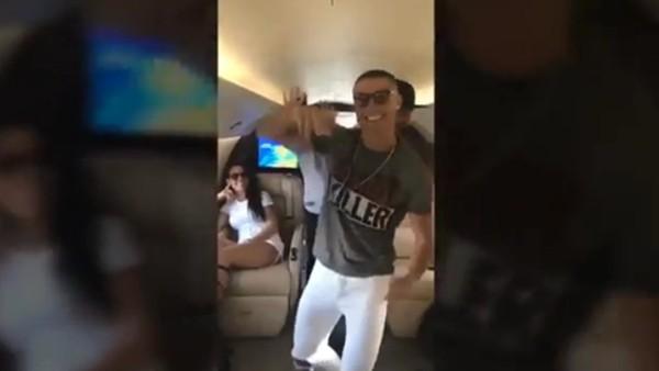Cristiano Ronaldo'dan çılgın dans!