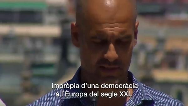 Guardiola, Katalonya'nın bağımsızlığı için halkı oy vermeye çağırdı
