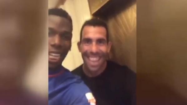 Paul Pogba'dan Carlos Tevez'e ziyaret