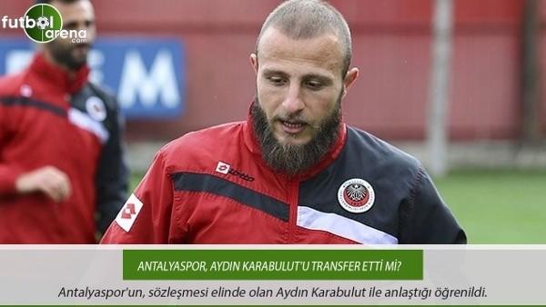Antalyaspor, Aydın Karabulut'u bitiriyor