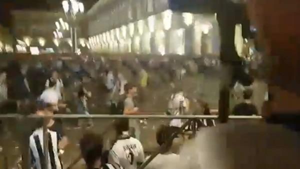 Juventus maçının izlendiği alanda patlama şüphesi