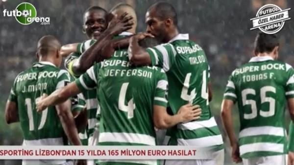 Sporting Lizbon'dan 15 yılda 165 milyon Euro hasılat