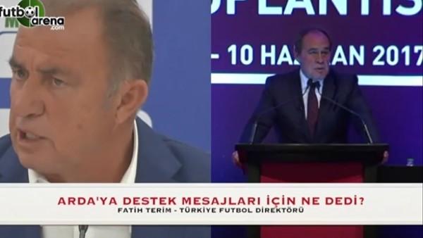 Fatih Terim, Arda Turan'a destek mesajları için ne dedi?