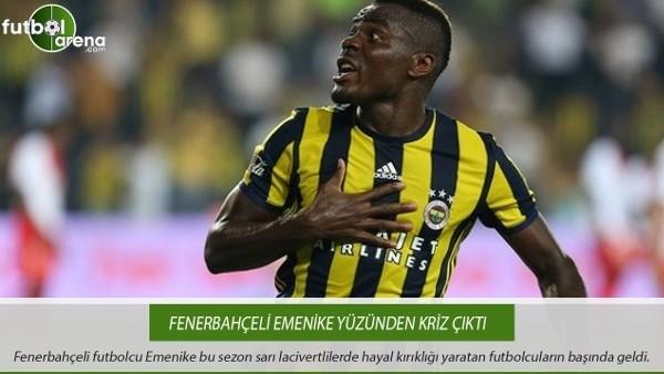 Fenerbahçeli Emenike yüzünden kriz çıktı