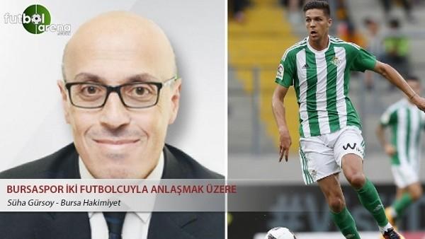 Bursaspor iki futbolcuyla anlaşmak üzere
