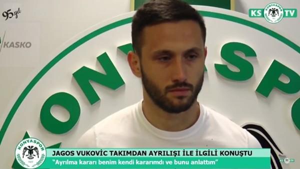 Vukovic, Konyaspor'dan ayrılışı ile ilgili konuştu