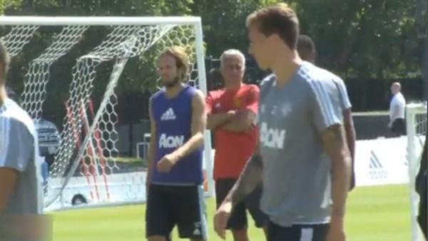 Mourinho, Paul Pogba ve Romelu Lukaku idmanda!