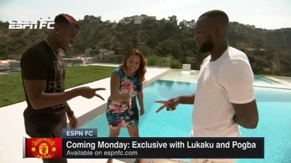 Paul Pogba muhabiri havuza attı