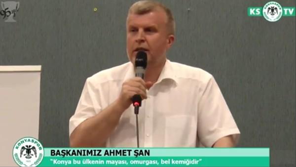 """Atiker Konyaspor Başkanı Ahmet Şan: """"Maalesef İzmir marşı söyleniyor"""""""