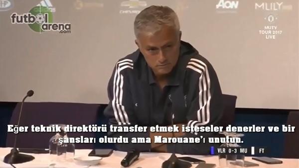 """Jose Mourinho: """"Galatasaray'ın beni transfer etmeleri Fellaini'den daha kolay"""""""