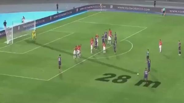 Dani Alves'in Monaco'ya attığı muhteşem frikik golü