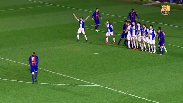 Barcelonalı gençlerin bu sezon attığı en güzel 5 frikik golü