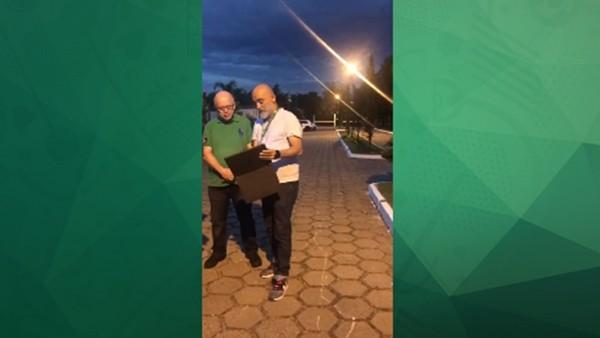 Hikmet Karaman, Brezilya'da Rize'yi tanıtıyor