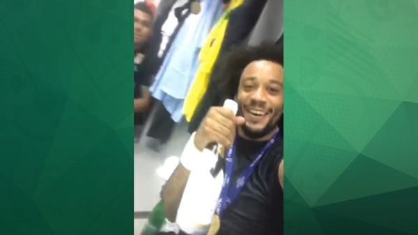Marcelo'dan kupa kutlaması