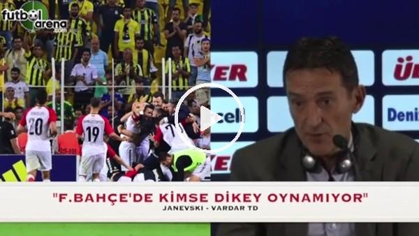Vardar Teknik Direktörü Janevski'nin Fenerbahçe maçı sonrası ilginç açıklaması