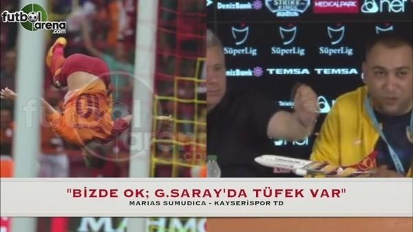 ''Bizde ok, Galatasaray'da tüfek var''