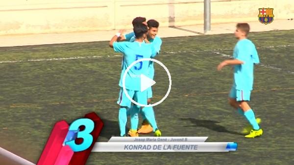 Barcelonalı gençlerden olağanüstü goller