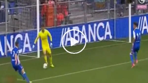 Zidane'ın kaleci oğlundan enfes çalım!