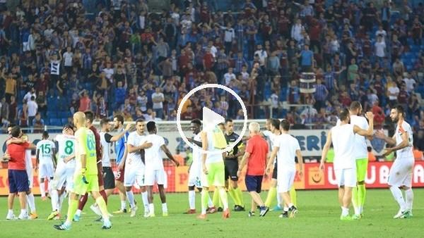 Trabzonspor'un Alanyaspor'a 4-3 kaybettiği maç sonrası tribünler