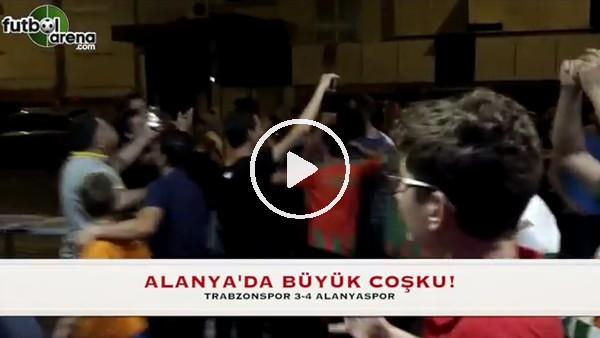 Trabzonspor maçı sonrası Alanyasporlu taraftarların büyük sevinci.